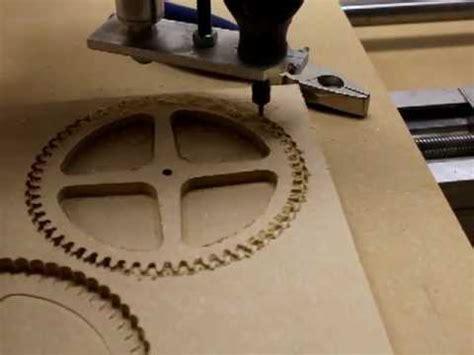diy cnc mach3 g540 test machining wood gear
