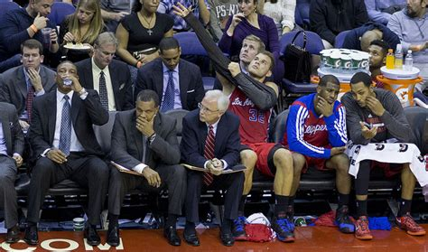 la clippers bench nba sets donald sterling s hearing for june 3 hardwood