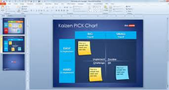 free kaizen pick chart template for powerpoint free