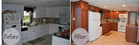 Painting Cabinets Cost Kitchen Cabinet Refacing Before And After Photos Decor