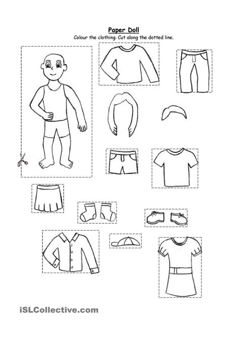clothes coloring pages preschool paper doll clothing for kindergarten and 1st graders