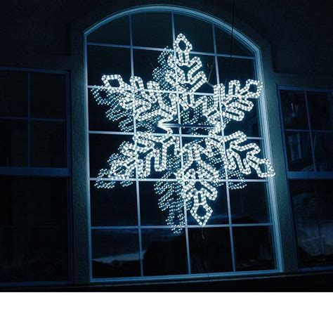 5 pure white led rope light snowflake novelty lights inc
