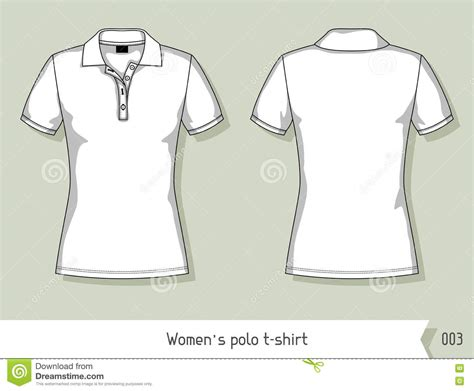 Women Polo T Shirt Template For Design Easily Editable By Layers Stock Vector Illustration Polo T Shirt Design Template
