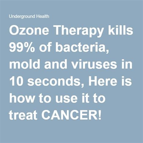 Ozone Therapy Lead Detox by Best 25 Ozone Therapy Ideas On What Does