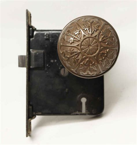 Knob Sets by Antique Sargent 6 Fold Lock Knob Set Olde Things