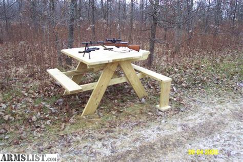 table with benches for sale armslist for sale shooting bench picnic table combo