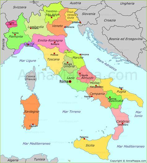 di italia mappa politica dell italia annamappa