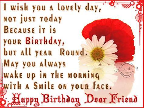 Happy Birthday Wish For A Friend Happy Birthday Dear Friend Wishbirthday Com