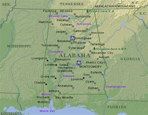 map of alabama cities alabama