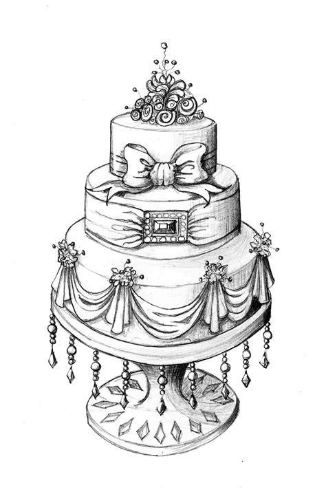 Hochzeitstorte Zeichnung cake design cake cupcakes and cookies
