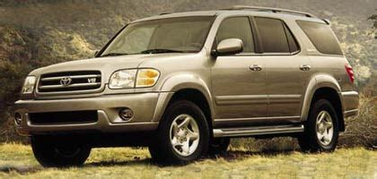 2001 toyota sequoia toyota s fullsize suv turned trail ready 2001 toyota sequoia suv road test motor trend