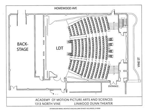 theatre floor plan linwood dunn theater floor plan 250seattheater pinterest