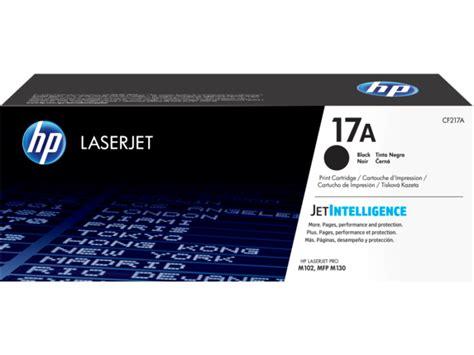 Toner Cf217a hp 17a black original laserjet toner cartridge cf217a