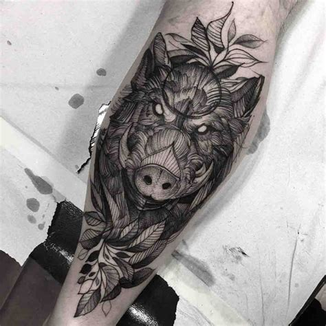 calf tattoo boar best tattoo ideas gallery