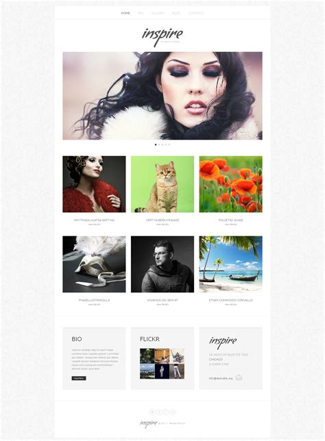 themes wordpress artist artist portfolio responsive wordpress theme 46088