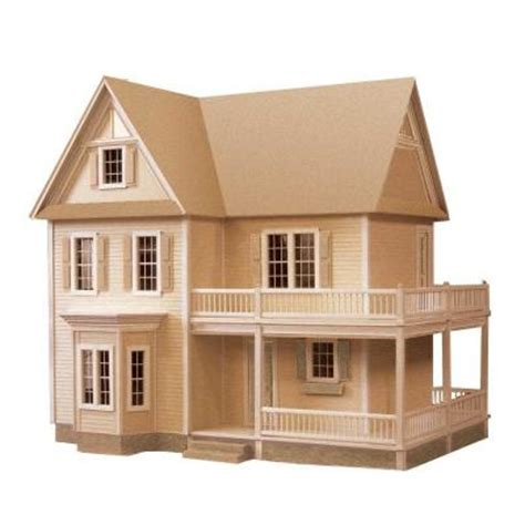 doll house kit victoria s farmhouse dollhouse kit 94592 the home depot
