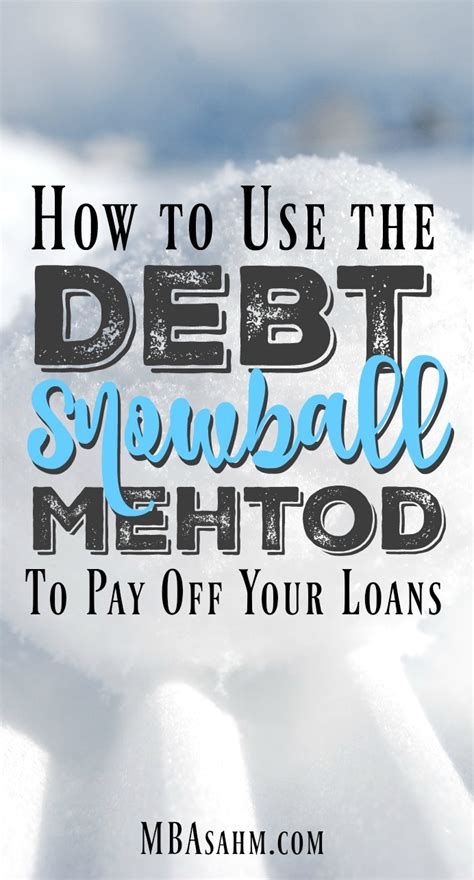 How To Get My Mba Paid For by How To Use The Debt Snowball Method To Pay Your Loans