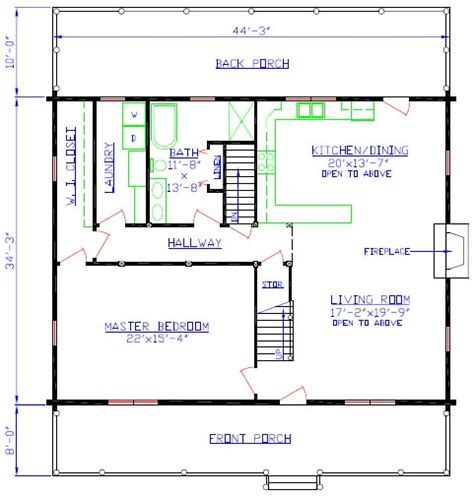 floor plan guide the overlook log home floorplan