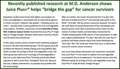 fruition e juice science saturday juice plus and m d cancer