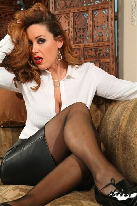 christina carter leatherskirt secretary  fashion