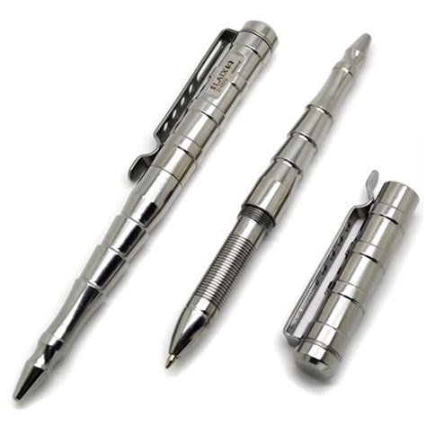 Ballpoint Tactical Pen Self Defense Bahan Allumunium Aerospace T1910 5 laix b009 stainless steel multifunctional self defense protection tactical pen silver