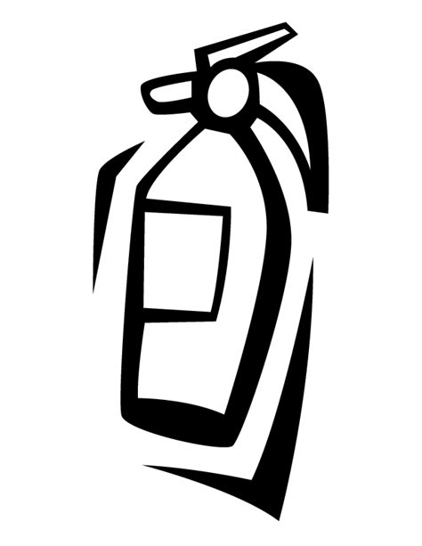 fire extinguisher coloring page coloring pages