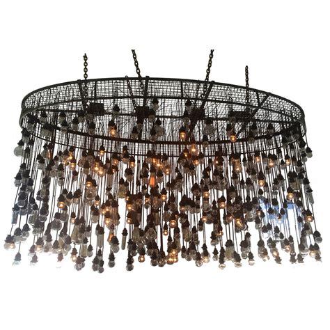industrial chandelier 500 bulbs industrial chandelier for sale at 1stdibs