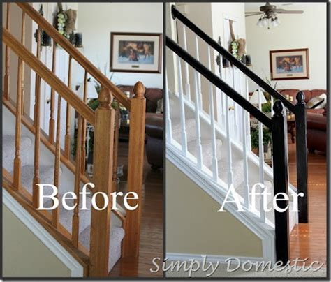 Banister Paint Ideas by Painting Our Banister Simply Domestic