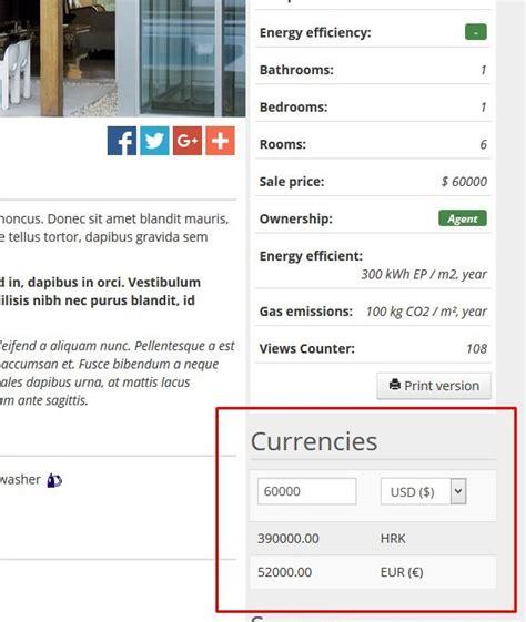 currency converter widget real estate currency conversion widget by sanljiljan