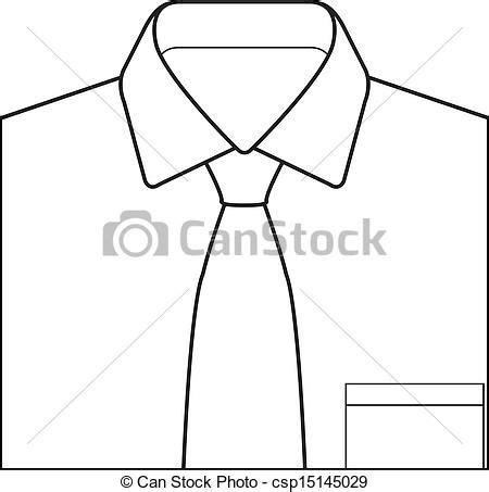 camisa y corbata para colorear ilustraciones de vectores de corbata vector camisa