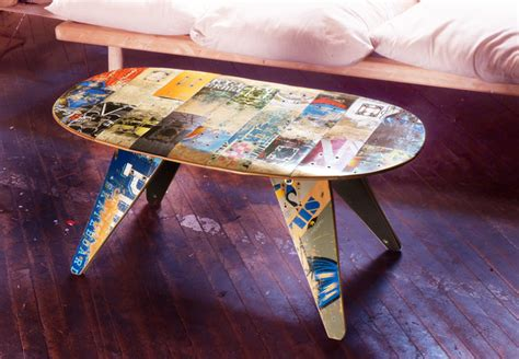 recycled skateboard coffee table contemporary coffee