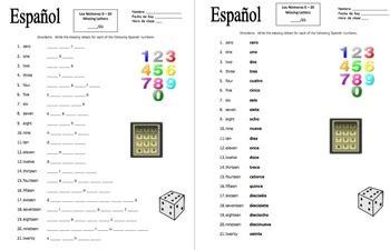 printable spanish numbers quiz spanish numbers worksheet number stevessundrybooksmags