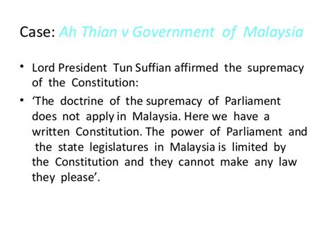 design and build contract in malaysia 6 constitutional supremacy v parliamentary 1