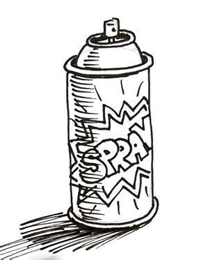 spray paint drawing spray can shoo rayner author