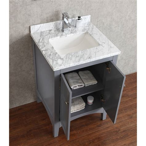 Solid Wood Vanities For Bathrooms Buy Martin 24 Inch Solid Wood Single Bathroom Vanity In Charcoal Grey Hm 001 24 Wmsq Cg