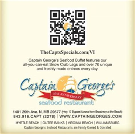printable restaurant coupons for myrtle beach sc scan qr code for great specials at capt george s seafood
