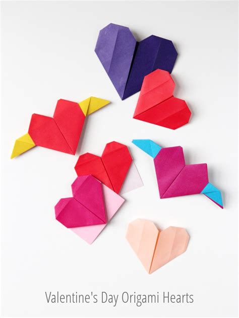 Valentines Day Origami - s day origami hearts three ways gathering