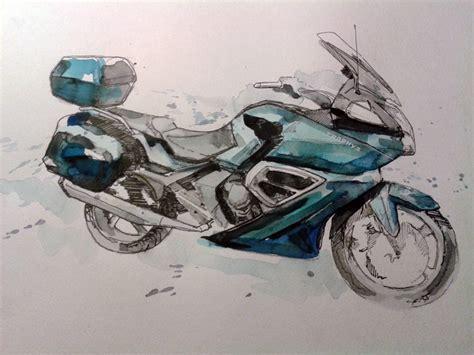 Motorrad Bilder Gemalt by Trophy