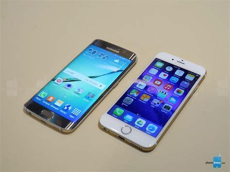 Samsung S6 Vs Iphone 6 samsung galaxy s6 edge vs apple iphone 6 look