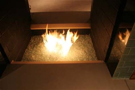 custom glass burning fireplace glass fireplace
