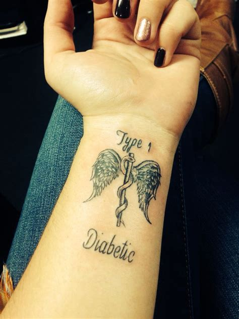 type 1 diabetic tattoo best 25 alert ideas on