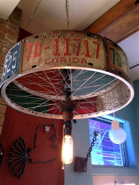 license plate light law florida chandelier pendant l made from license plates and bike