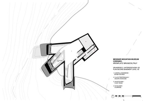 mountain architecture floor plans gallery of messner mountain museum corones zaha hadid