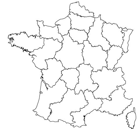 Maps Of The Regions Of France Map Template
