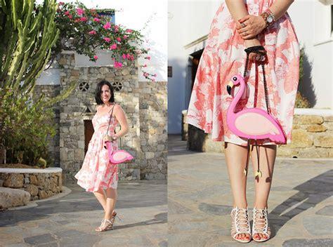Zara Flamingo Dress elisa cesarini zara dress moschino bag giuseppe