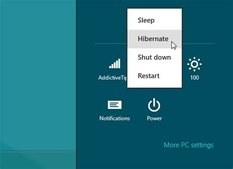 how to enable windows 8 hibernate option