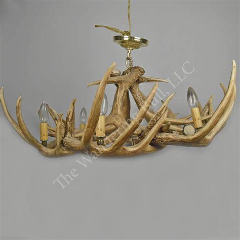 dear chandelier deer antler chandelier replica the wandering bull llc