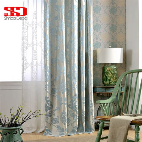 blackout fabric for curtains fabric european blackout curtains for living room jacquard