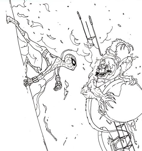 lizard villain coloring pages spiderman vs lizard man free coloring pages