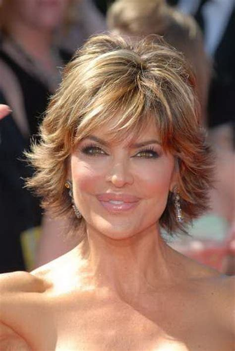 rinna haircolor short highlighted hairstyles